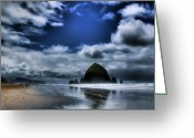 Lanscape Photo Greeting Cards - Haystack Rock Greeting Card by David Patterson
