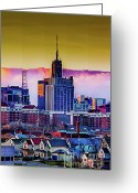 Buffalo New York Greeting Cards - Haze Greeting Card by Chuck Alaimo