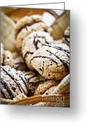Cookie Photo Greeting Cards - Hazelnut Cookies Greeting Card by Elena Elisseeva