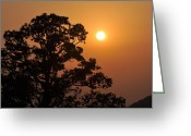 Marty Koch Greeting Cards - Hazy Sunset Greeting Card by Marty Koch
