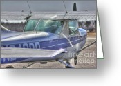 Airplanes Greeting Cards - HDR Airplane Single Prop Engine Greeting Card by Pictures HDR