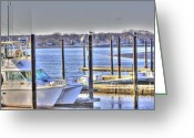 Boogie Board Greeting Cards - HDR  Boat Waiting Wanting yet Tied Greeting Card by Pictures HDR