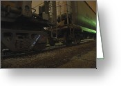 Train Car Greeting Cards - HDR Rail Cars Greeting Card by Scott Hovind
