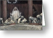 Disciples Greeting Cards - He Appeared to the Eleven Greeting Card by Tissot