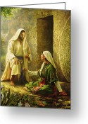 Resurrected Greeting Cards - He is Risen Greeting Card by Greg Olsen