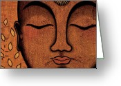 Tibetan Buddhism Greeting Cards - He Knows Greeting Card by Gloria Rothrock
