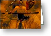 Maori Prints Greeting Cards - He Toa o Aotearoa Greeting Card by Arthur Thatcher