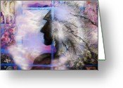 New Age Art Greeting Cards - He Waits II Greeting Card by Patricia Motley