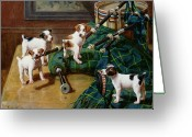 Naughty Greeting Cards - He Who Pays the Piper Calls the Tune Greeting Card by John Hayes