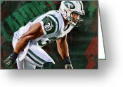 Ny Jets Greeting Cards - Head First High Velocity No Regrets Greeting Card by Duane Tomaszewski