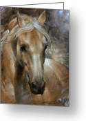 Head Greeting Cards - Head Horse 2 Greeting Card by Arthur Braginsky