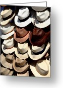 Cowboy Hats Greeting Cards - Head Stand Greeting Card by Joe Kozlowski