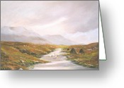 Co Galway Greeting Cards - Heading For The Hills Greeting Card by Cathal O malley