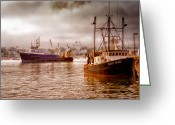 Offshore Greeting Cards - Heading Out Greeting Card by Bob Orsillo