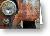 Antique Truck Greeting Cards - Headlight Greeting Card by Kathy Jennings