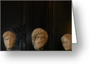 Roman Greeting Cards - Heads of State... Greeting Card by Will Bullas