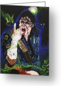 Michael Jackson Greeting Cards - Heal The World Greeting Card by Lauren Penha