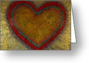 Day Sculpture Greeting Cards - Healing Heart Greeting Card by Rochelle Carr