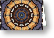 Close-up Photos Greeting Cards - Healing Mandala 16 Greeting Card by Bell And Todd