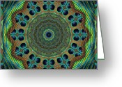 Feathers Greeting Cards - Healing Mandala 19 Greeting Card by Bell And Todd