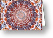Close-up Photos Greeting Cards - Healing Mandala 2 Greeting Card by Bell And Todd