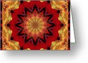 Close-up Photos Greeting Cards - Healing Mandala 28 Greeting Card by Bell And Todd