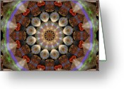 Rosy Greeting Cards - Healing Mandala 30 Greeting Card by Bell And Todd