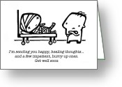 Sick Greeting Cards - Healing Thoughts Greeting Card by Leanne Wilkes