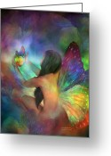 Healing Art Greeting Cards - Healing Transformation Greeting Card by Carol Cavalaris