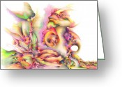 Trippy Greeting Cards - Hear me Greeting Card by Bodhi  
