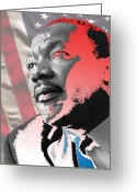 Civil Rights Digital Art Greeting Cards - Hear my Voice Greeting Card by Jimi Bush