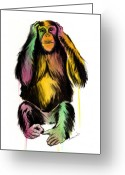 Hear Greeting Cards - Hear No Evil  Greeting Card by Matt Truiano
