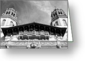 San Simeon Greeting Cards - Hearst Castle Towers Greeting Card by Matt Hanson