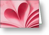 Wedding Greeting Cards - Heart A Flutter Greeting Card by Rebecca Cozart