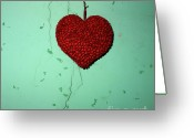 Shaped Greeting Cards - Heart Greeting Card by Bernard Jaubert