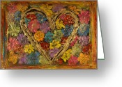 Heart Sculpture Greeting Cards - Heart Bouquet Greeting Card by Rochelle Carr
