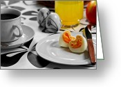 Brunch Greeting Cards - Heart Eggs Greeting Card by Gert Lavsen