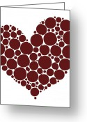 Day Drawings Greeting Cards - Heart Greeting Card by Frank Tschakert