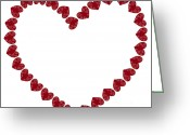 Dating Greeting Cards - Heart from red hearts Greeting Card by Frank Tschakert
