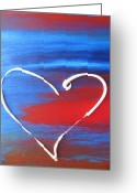 Valentine Greeting Cards - Heart in Motion Greeting Card by Lindie Racz