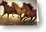 Equines Painting Greeting Cards - Heart Greeting Card by Liz Mitten Ryan