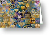 Sacred Art Digital Art Greeting Cards - Heart-Making Greeting Card by Susan Ragsdale