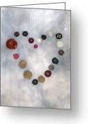 In Love Greeting Cards - Heart Of Buttons Greeting Card by Joana Kruse