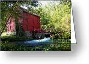 Ozarks Greeting Cards - Heart of the Ozarks Greeting Card by Lianne Schneider