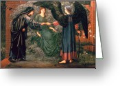 Preraphaelite Greeting Cards - Heart of the Rose Greeting Card by Sir Edward Burne-Jones