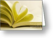 Patty Malajak Greeting Cards - Heart Paper Book Greeting Card by Patty Malajak
