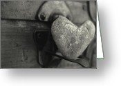 Treasures Greeting Cards - Heart Rock Greeting Card by Toni Hopper