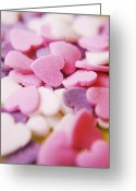 Heart-shape Greeting Cards - Heart Shaped Candies Greeting Card by Rolfo