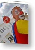 Clown Greeting Cards - Heartbreak on El Paso Street Greeting Card by Skip Hunt