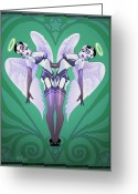 Pinup Greeting Cards - Heartbreakers Greeting Card by Cristina McAllister